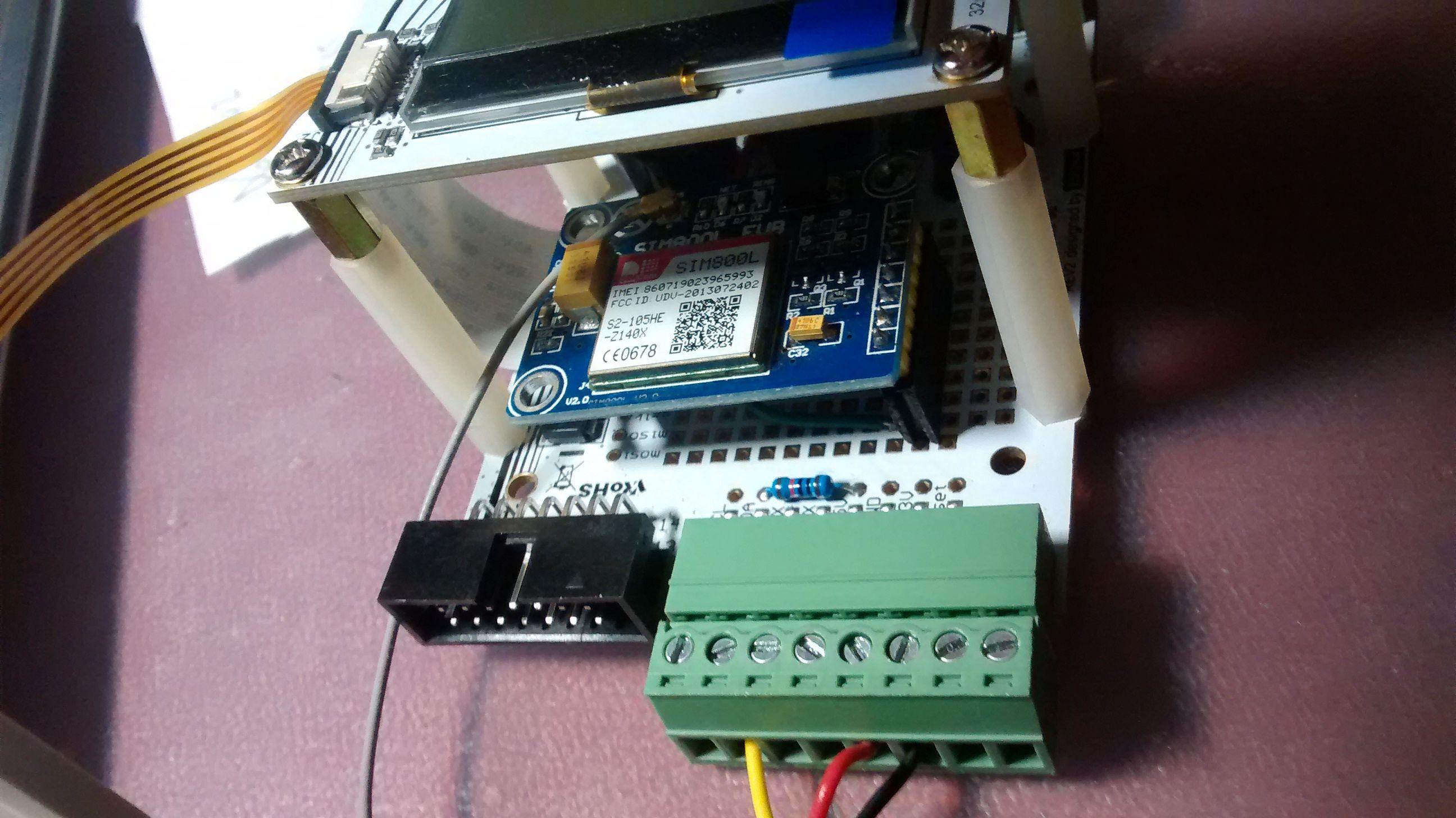 Industruino PROTO temperature SMS alarm | Industruino