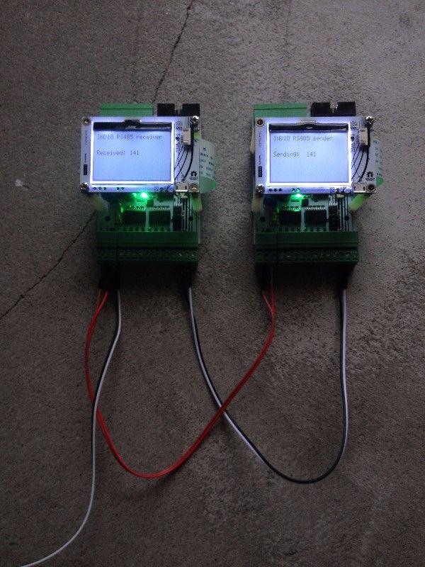 RS485 Serial communication   Industruino